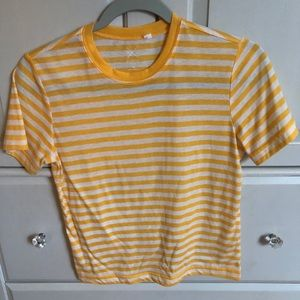 Pacsun yellow striped top